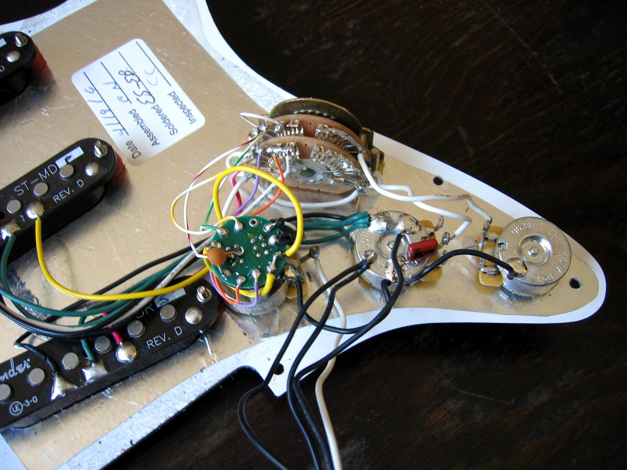 Fender Stratocaster S Wiring Diagram on