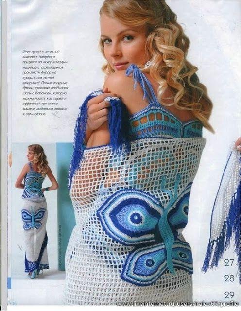 Crochet golden shawl