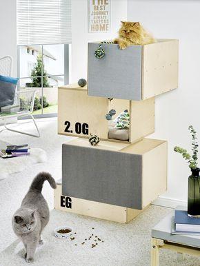 Katzenmöbel katzenmöbel kubus höhle hier geht s zur anleitung http toom