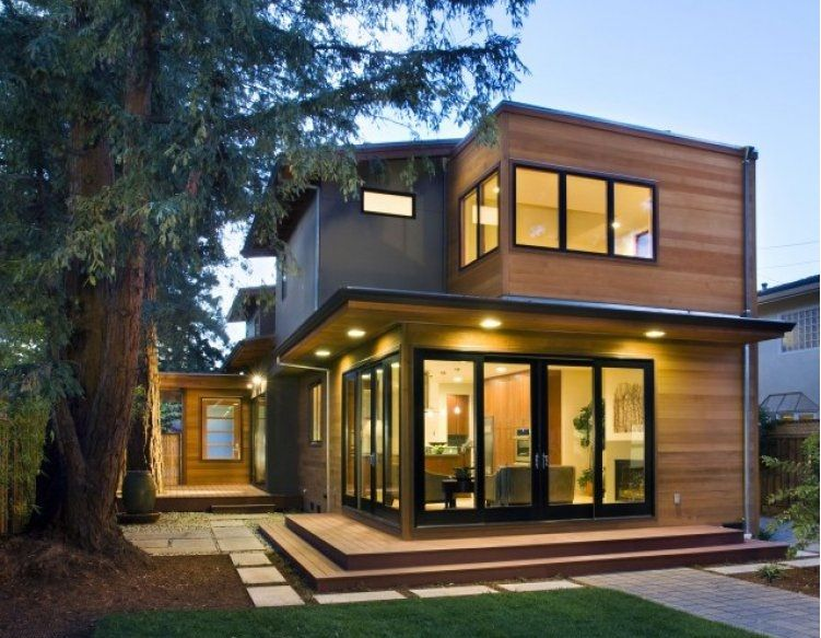 Casa de madera prefabricada moderna 105 81 m casa for Casas prefabricadas modernas