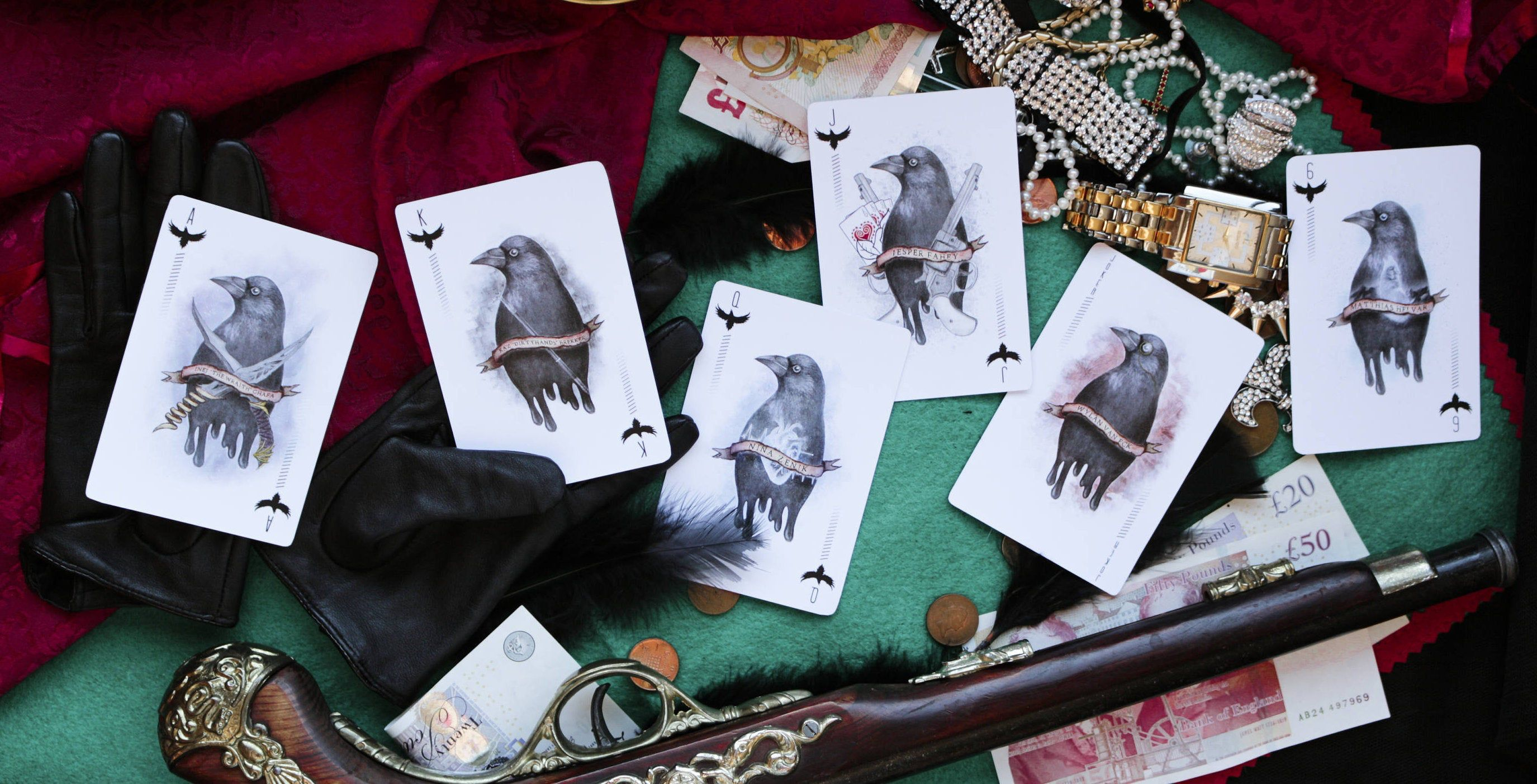 Deck of Cards Six of Crows Characters Playing cards