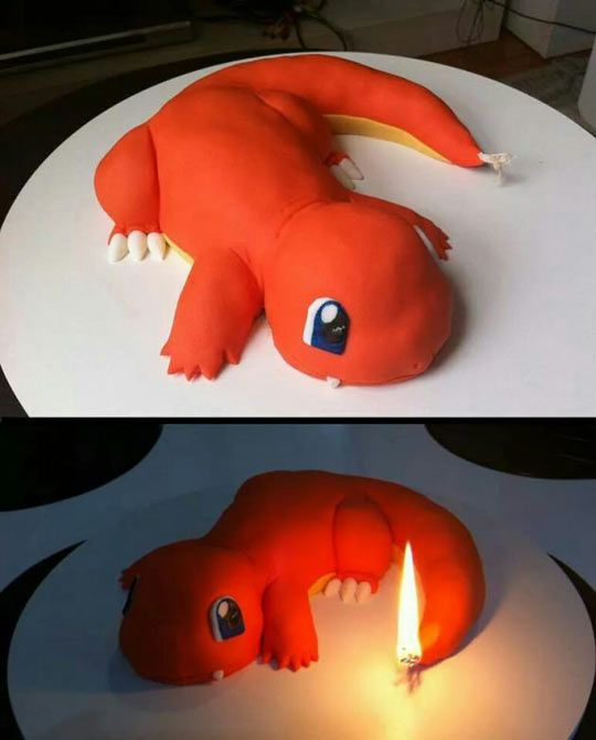 Charmander Cake in 2019 | Awesomeness | Cool birthday cakes, Pokemon ...