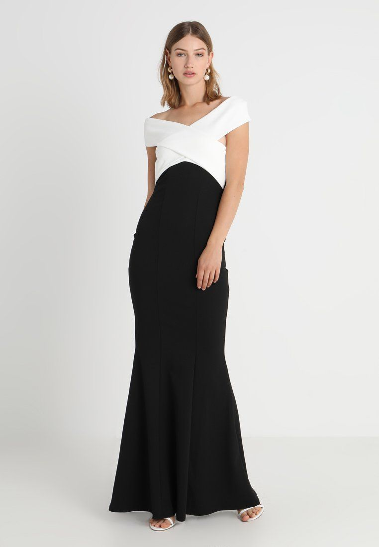 4be90dd9a874a0 Sista Glam CASSILA - Maxi-jurk - black white - Zalando.be