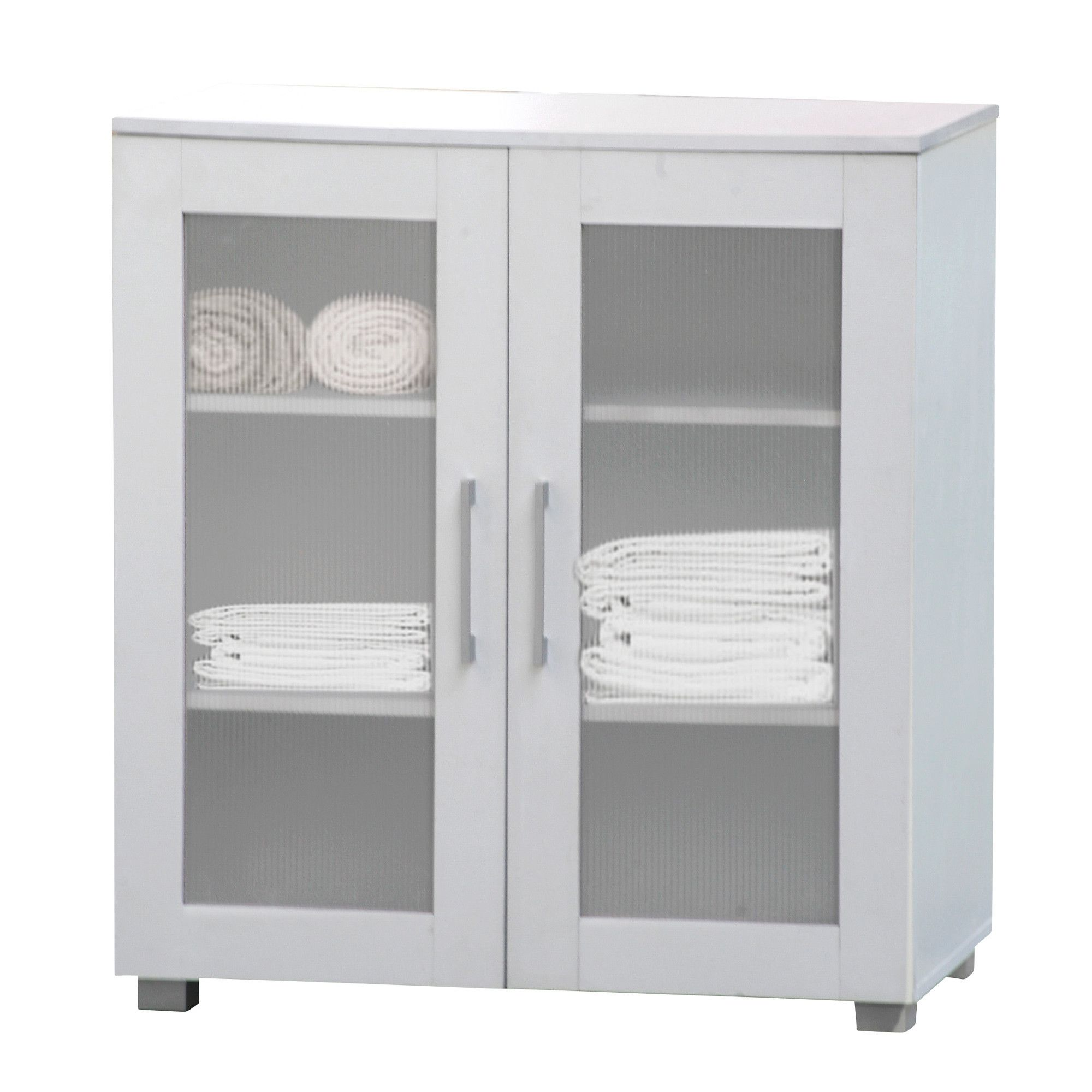 White Aspen Low Line Double Door Cupboard by In Home Furniture Style ...