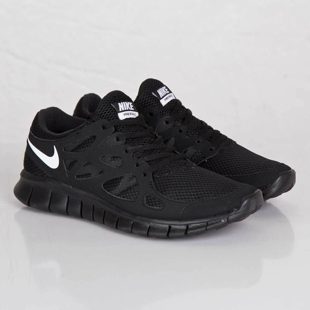 5b7517dab339 Nike Free Run 2 NSW Black Mens Running Shoes 540244-013 9.5 ...