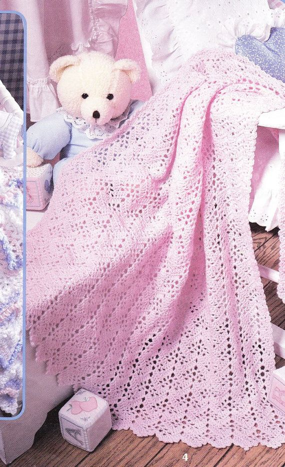 Lacy Ripples Baby Afghan Crochet Patterns - 6 Classic Designs - Lacy ...