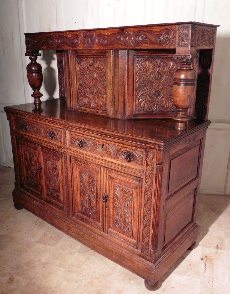 19th Century Carved Oak Court Cupboard in Antiques, Antique Furniture,  Dressers | eBay - 19th Century Carved Oak Court Cupboard In Antiques, Antique