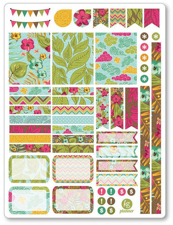 Aloha dekorieren kit w chentlich verbreitung planner erin condren planner - Fotoalbum dekorieren ...