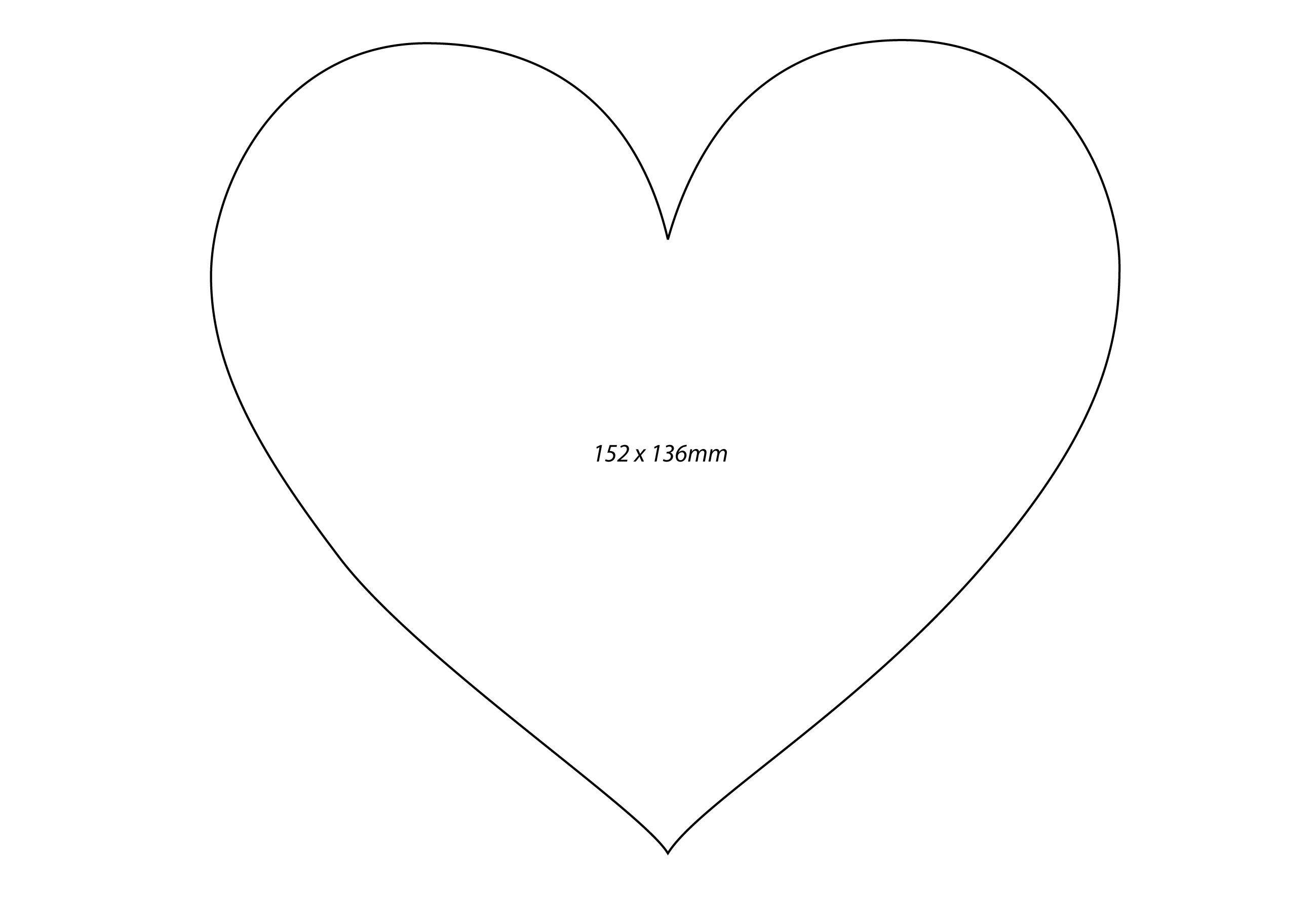 It is an image of Printable Heart Shapes with medium