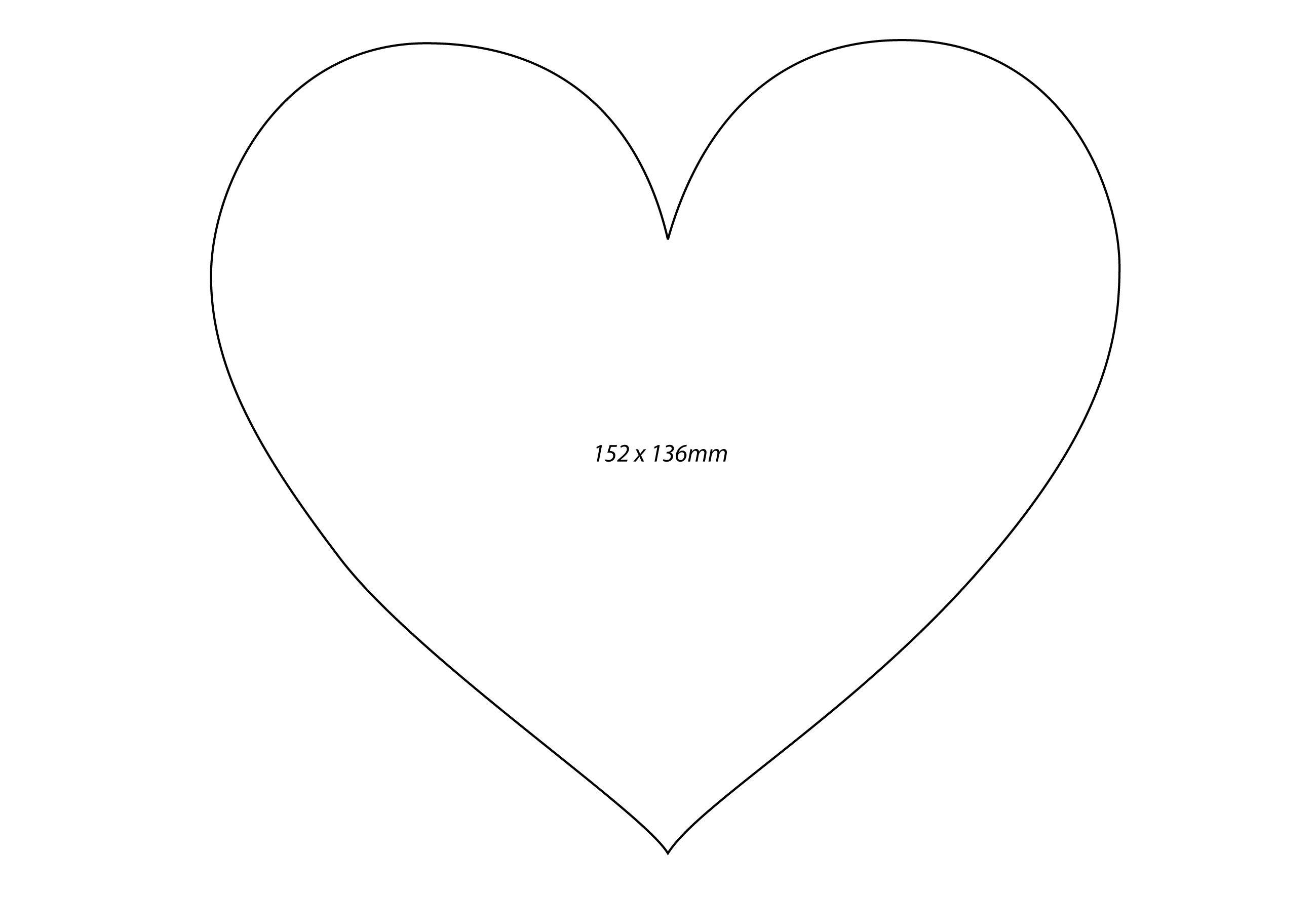 Printable Template Of A Heart Shape Printables Pinterest Heart