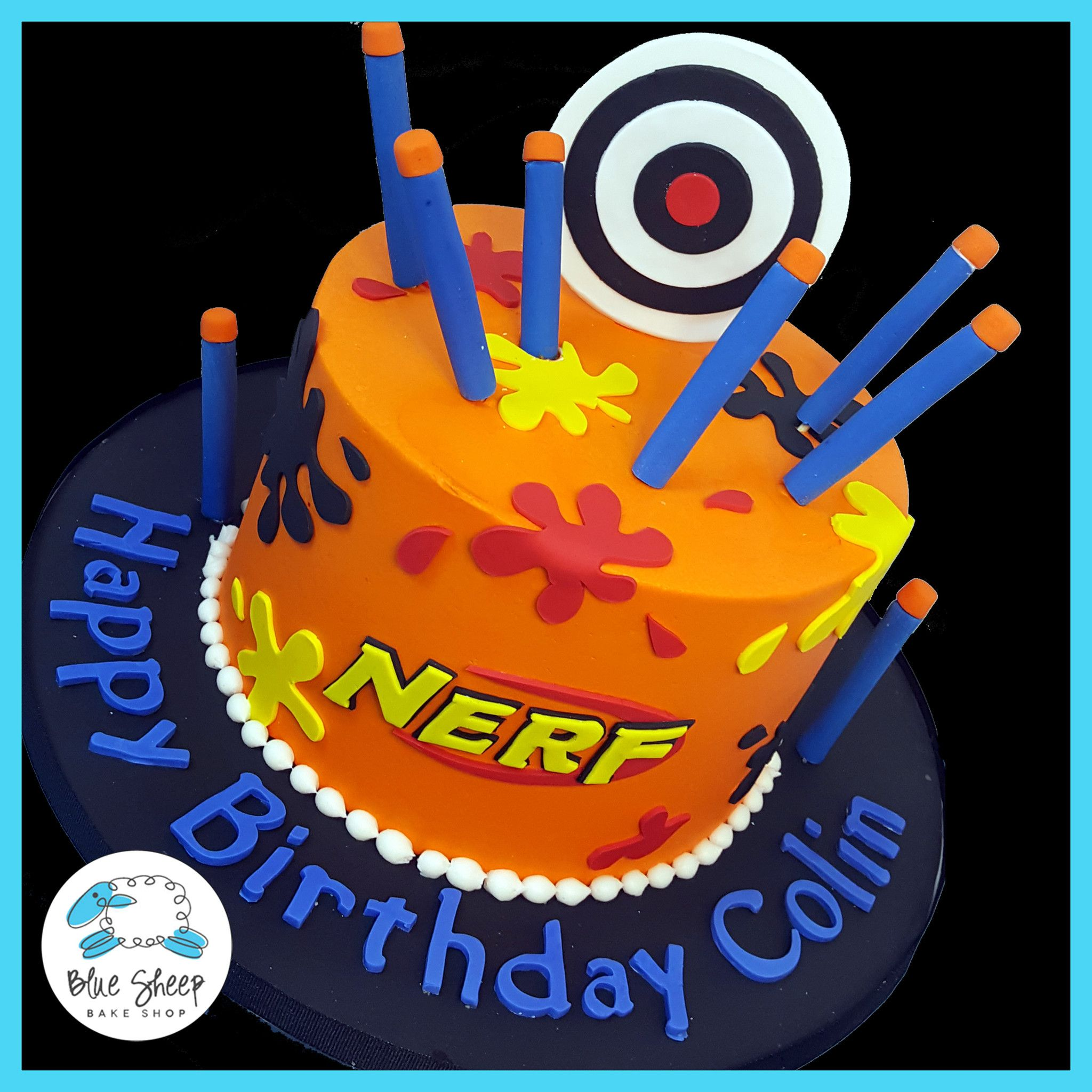 nerf birthday cake nj CAKES Pinterest Birthday cakes