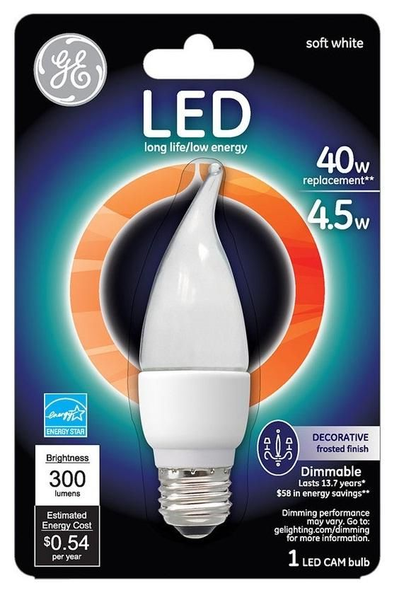 Ge Lighting 89950 Dimmable Decorative Led Light Bulb 4 5 Watts In 2020 Led Light Bulb Dimmable Led Lights Ge Led