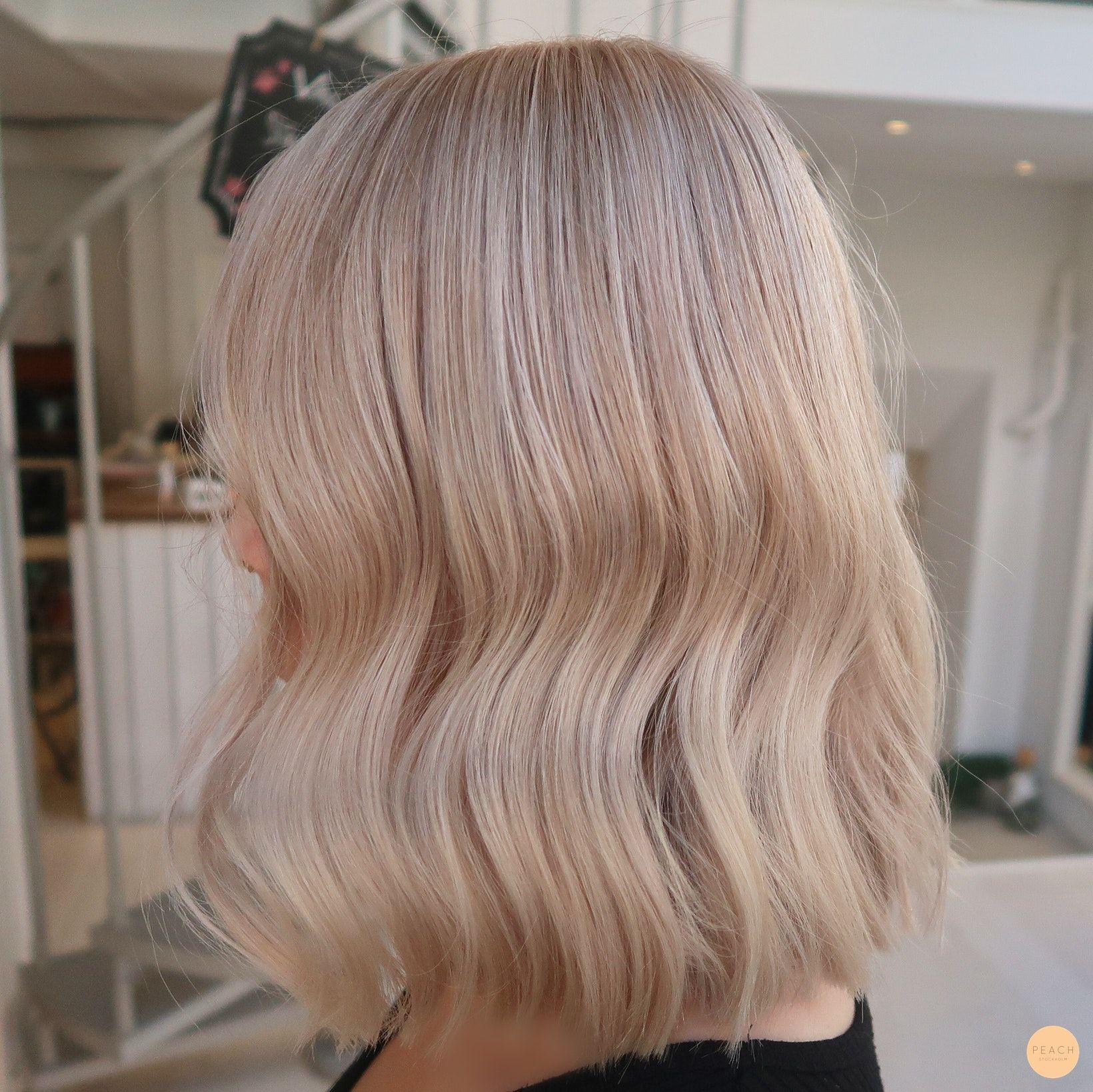 Sommarblond hårfärg