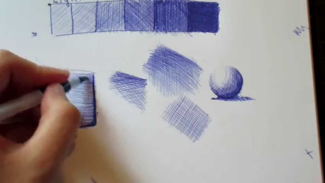 How To Ballpoint Pen The Technique Youtube Dessin Stylo