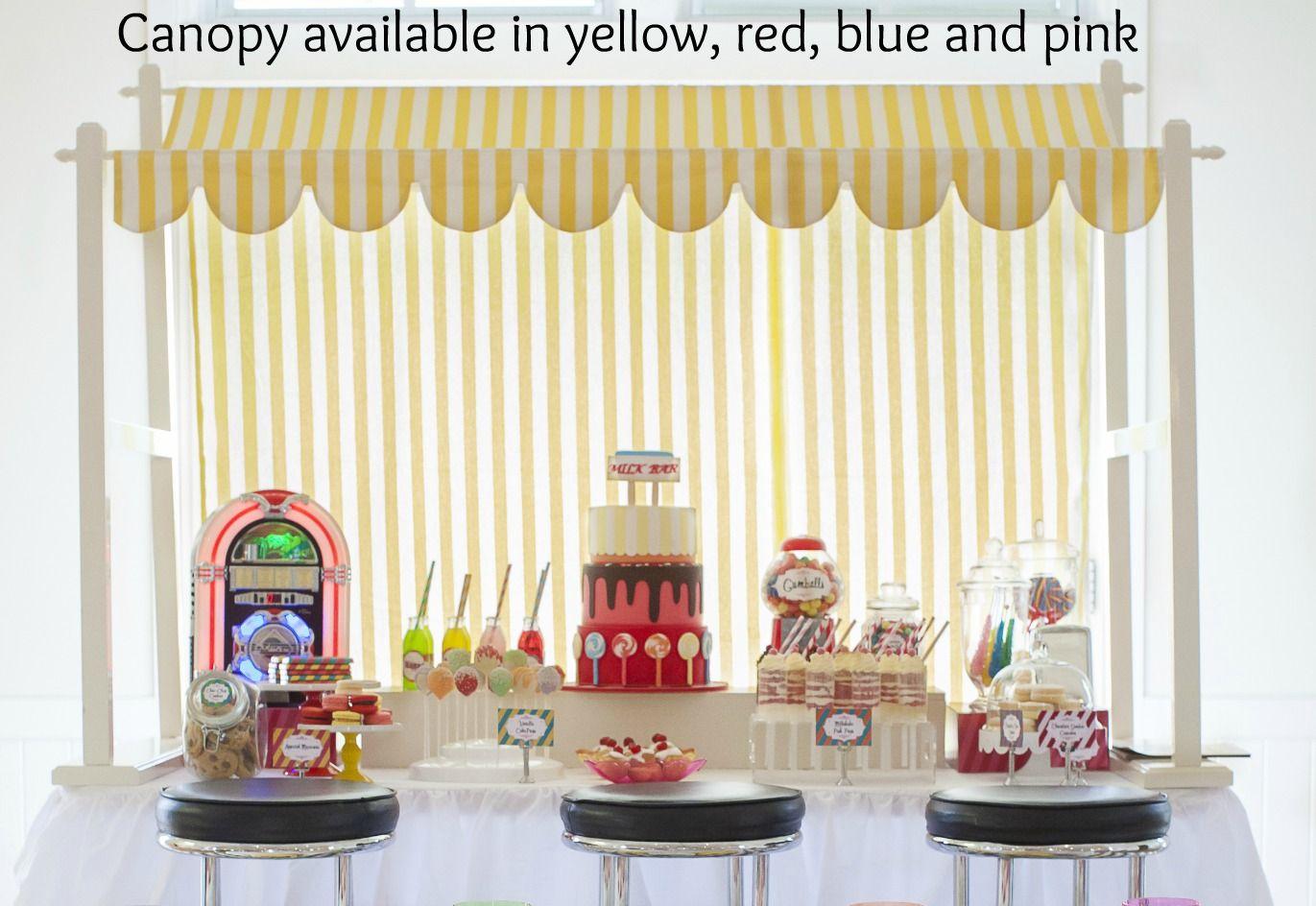 Yellow Lolly Shop Canopy Display Retro Milk Bar theme .tinytotstoyhire.com.au & Yellow Lolly Shop Canopy Display Retro Milk Bar theme www ...