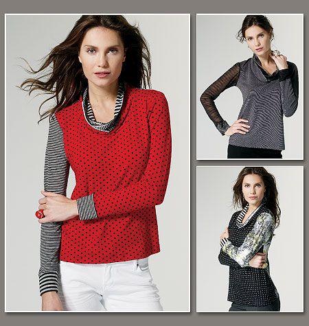 Vogue Patterns 8793 Misses Top   Tuniken und Stil