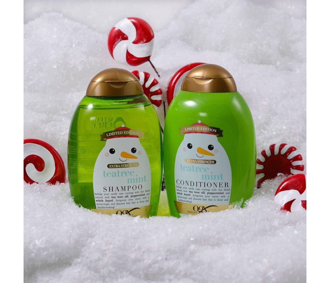 OGX Limited Edition Tea Tree Mint Extra Strength Shampoo ...