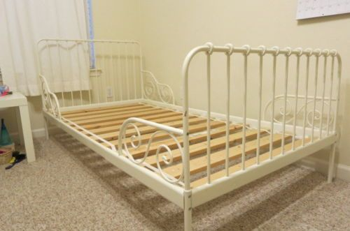 IKEAs MINNEN Extendable Children Bed Frame With Slatted Base White
