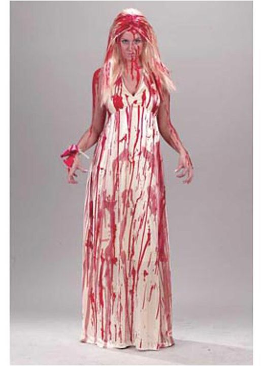halloween costumes womens bloody prom nightmare costume - Bloody Halloween Masks