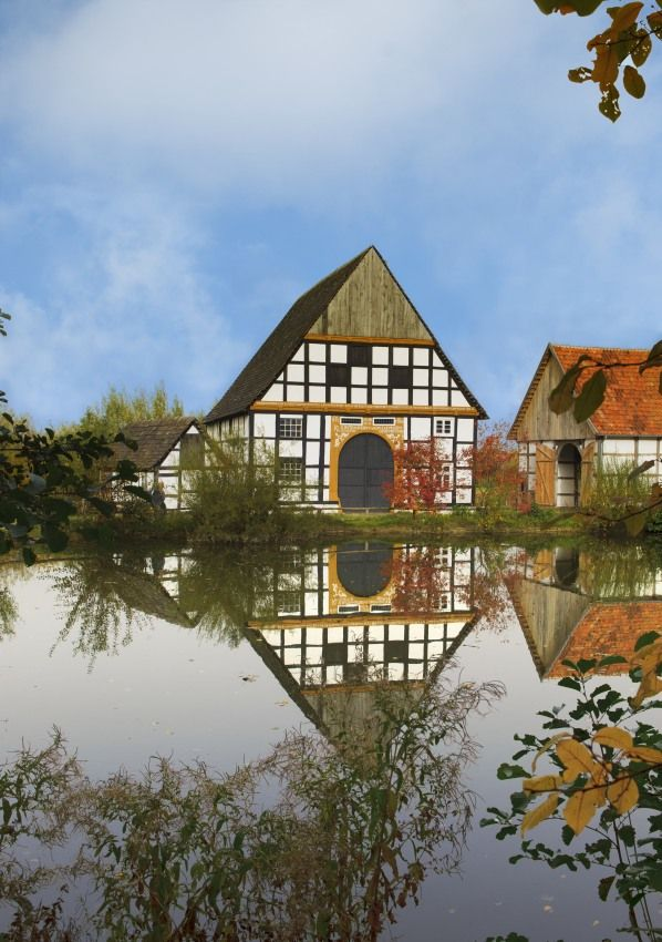 westphalien open-air museum in detmold - germany - the largest open