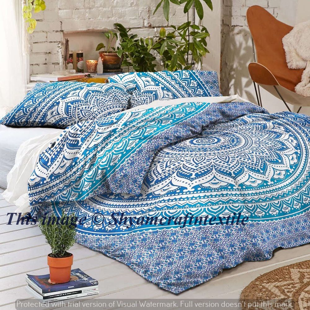 Boho Quilt Covers Australia Queen Size Quilt Cover Cotton Mandala Indian Duvet Doona Cover