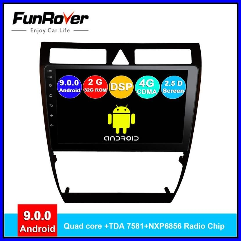 New Funrover Android 9 0 2 5dips Car Dvd For Audi A6 S6 Rs6 Allroad Radio Gps Navigation Nav Multimedia Stereo Player Autor In 2020 Car Audio Cheap Car Audio Enjoy Car