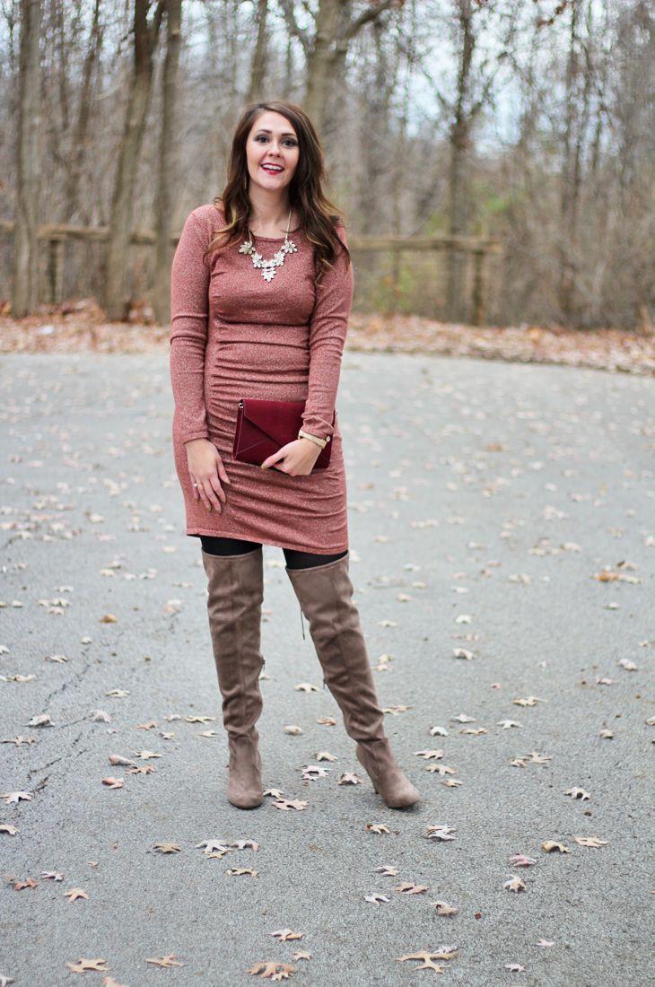 2f0d5ffa118 Glittery Sweater Dress for New Year s Eve