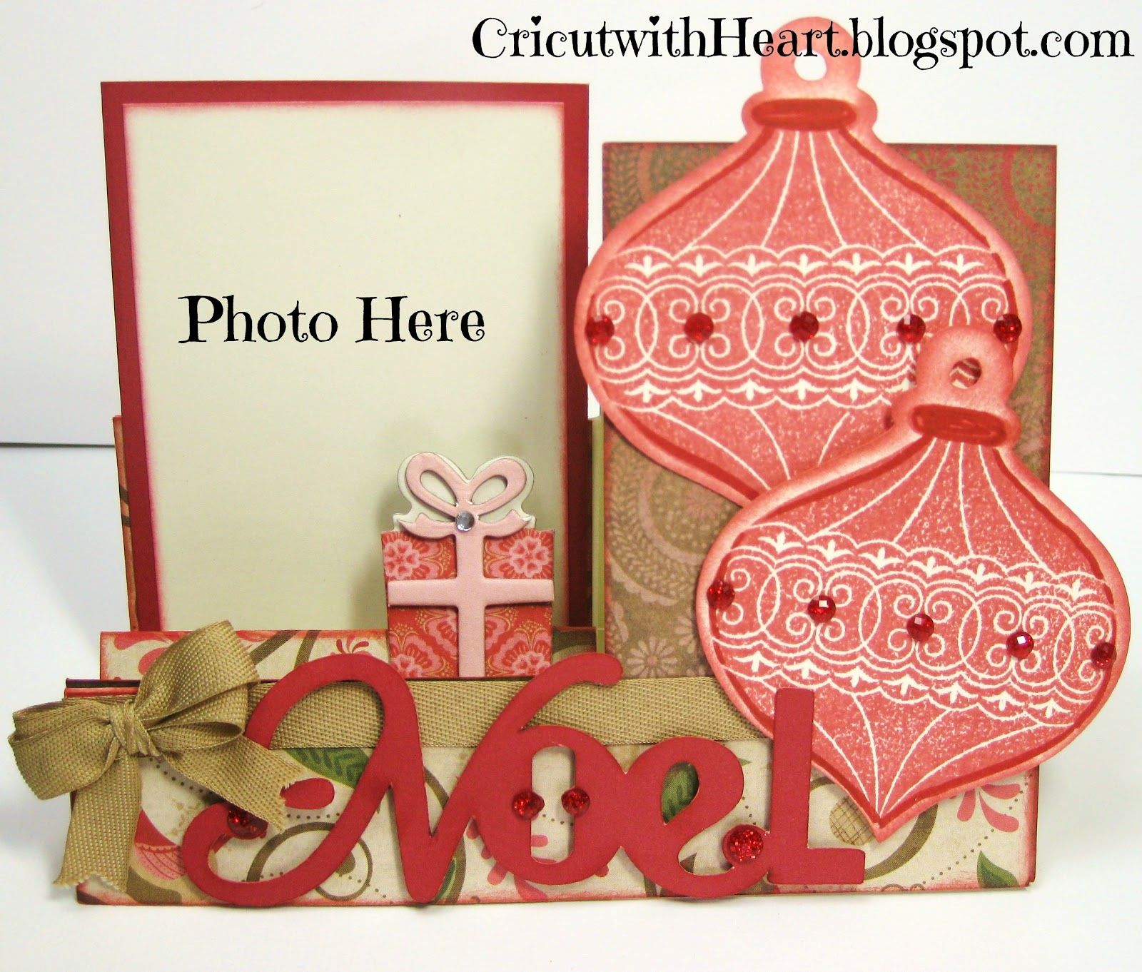 Cricut with Heart: Photo Step Card Including scoring instructions