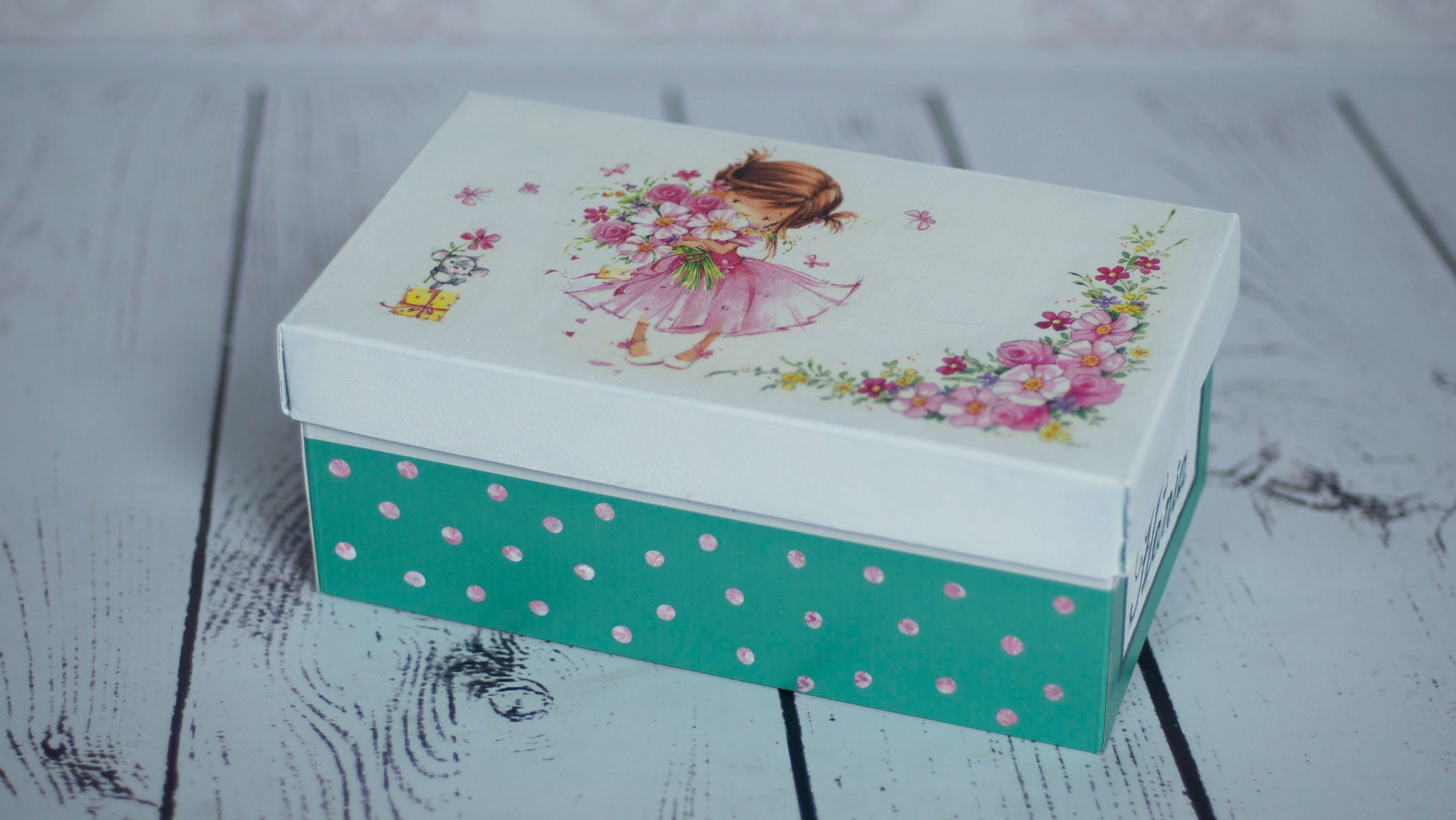 How To Decorate Boxes Decoupage Tutorial Which Shows How To Do Decorate Shoe Boxi Used