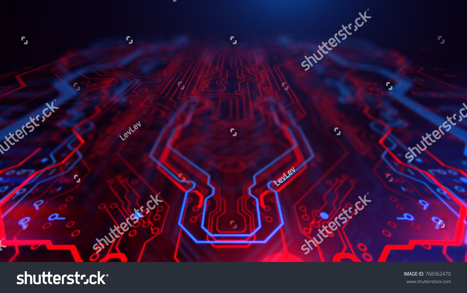 Technology Terminal Background Digital Red Blue Backdrop Printed Circuit Board Technology Wallpaper 3d Ill Blue Backdrops Technology Wallpaper Red And Blue