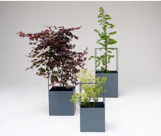 Garten Gestaltung-Tipps Dekoration-Blumentopf Aluminium Fiberglas - pflanzgefase im garten ideen gestaltung