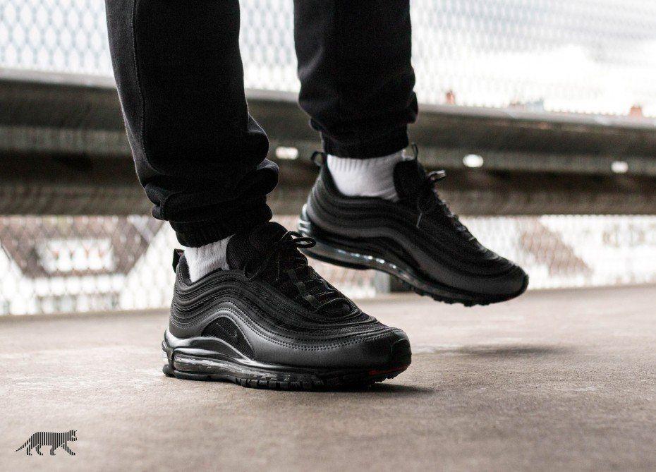 NIKE AIR MAX 97 Black Metallic Hematite Mens Sneakers