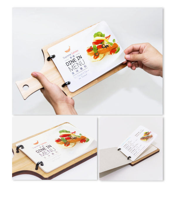Branding 品牌建置 Supreme Salmon 美威鮭魚 By Ming Island Design Via Behance Restaurant Menu Design Recipe Book Design Menu Restaurant