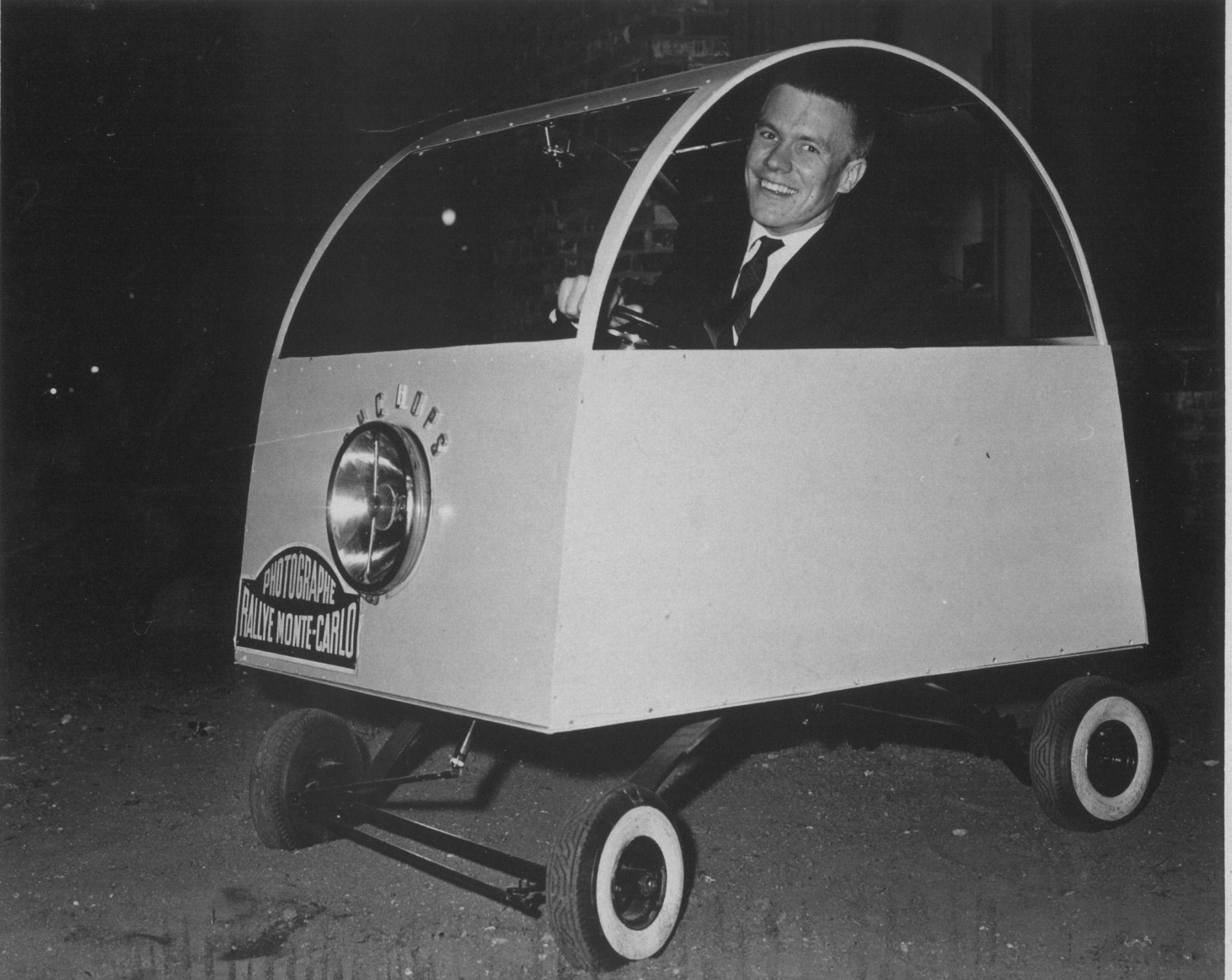 Stan Mott In Orig Cyclops R Mini Cars Weird Cars Cycle Car