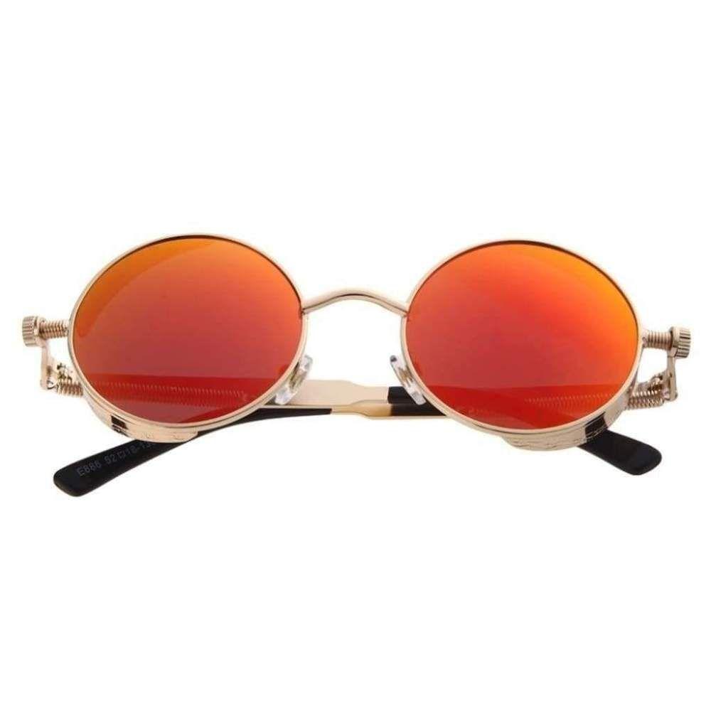 60f0f05bf9 Women s Sunglasses Round Steam Punk Circle Men Female Brand Metal Mirror   fashion  clothing  shoes  accessories  mensaccessories ...