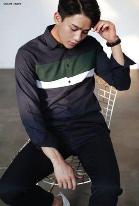 Middle Coloring Point Shirts #AsianFashion #KoreanFashion #MensStyle #SmartCasual #MensShirt --- $38.00