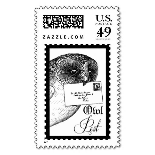 Owl post stamp wanna make each letter a special delivery for Post office design your own stamps