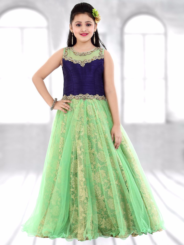 Green Net Designer Gown | Girls Gown G3 colection | Pinterest ...