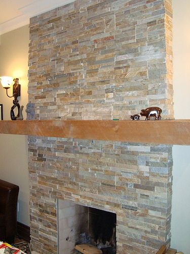 fireplace slate tile by yard sale at 400 Dovercourt Rd  via Flickr
