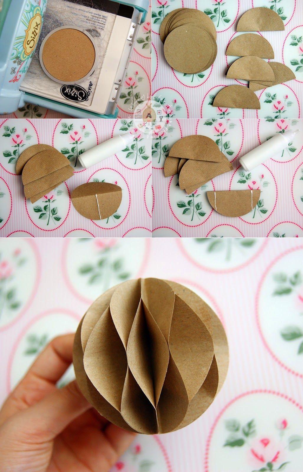 Lollyrot Scrapbooking Honeycomb Pom Poms Handmade Christmas Decorations Paper Ornaments Diy Christmas Crafts Diy