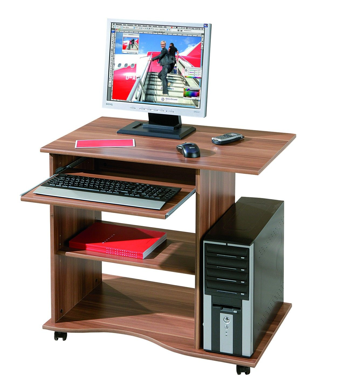 Bureau Pour Ordinateur Adda Noyer Projets Essayer  # Meuble Bureau Ordinateur Tv