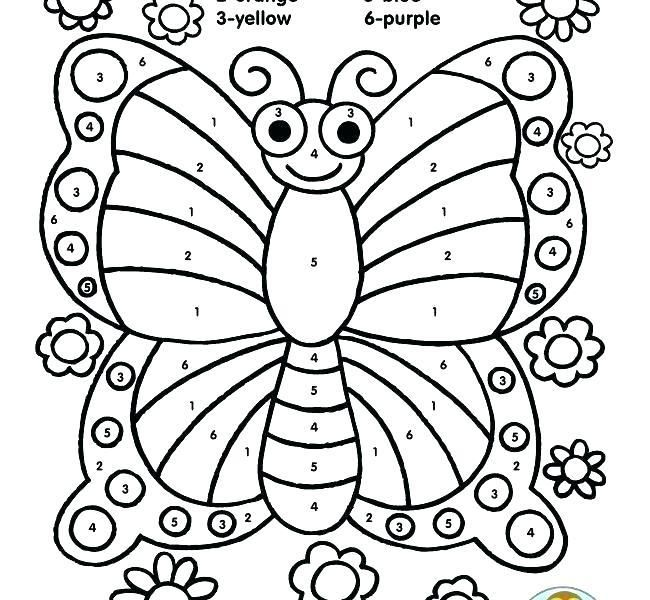 Butterfly Coloring Pages For Kids Color By Numbers Butterfly Butterfly Coloring Page Barbie Coloring Pages Coloring Pages