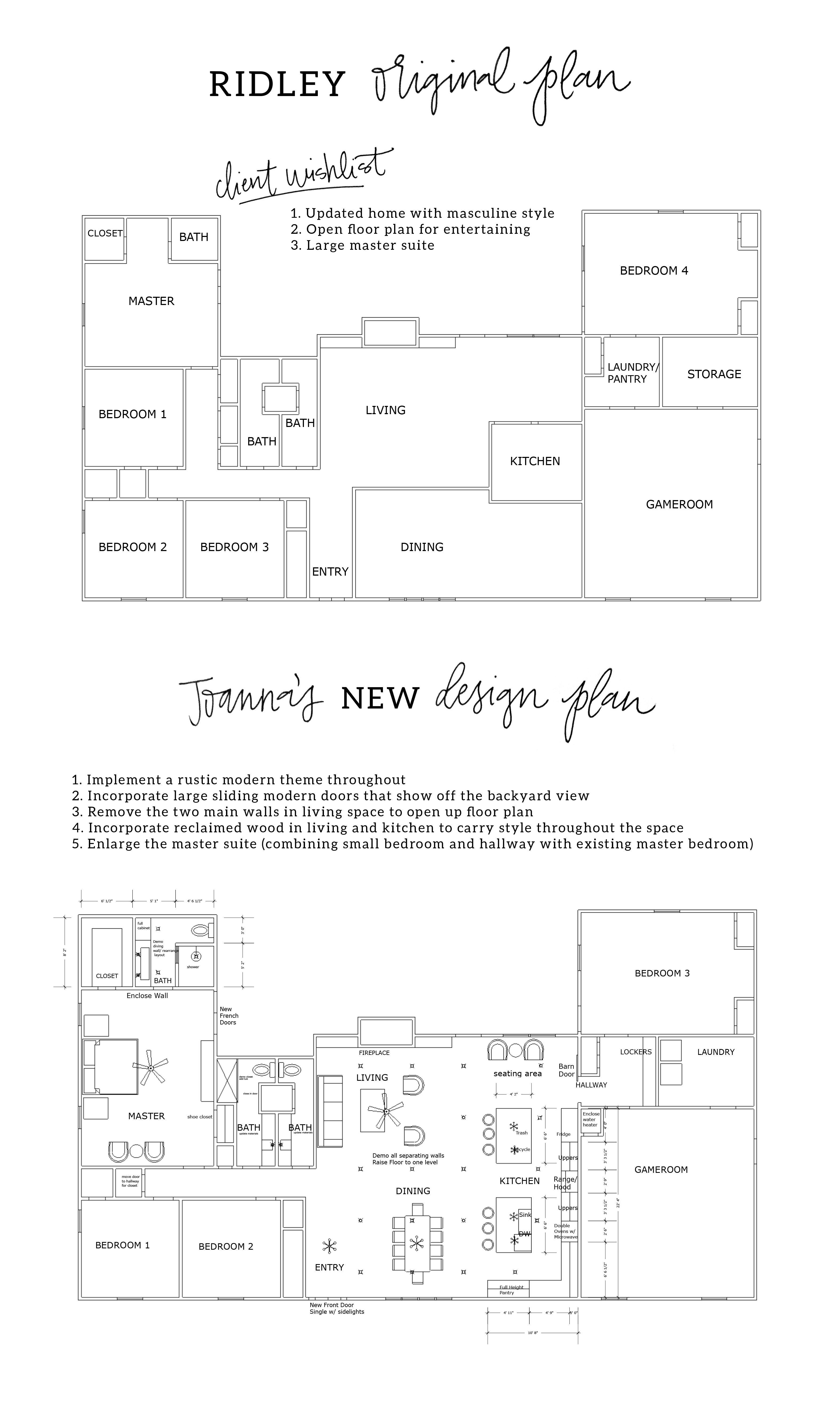 Fixer Upper Season 3 Episode 10 The Peach House Fixer Upper House House Plans Floor Plan Layout