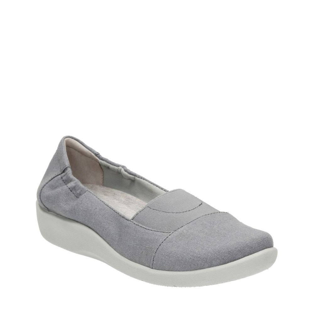 Clarks Sillian Sune Slip-On Shoes Women's Blue 8