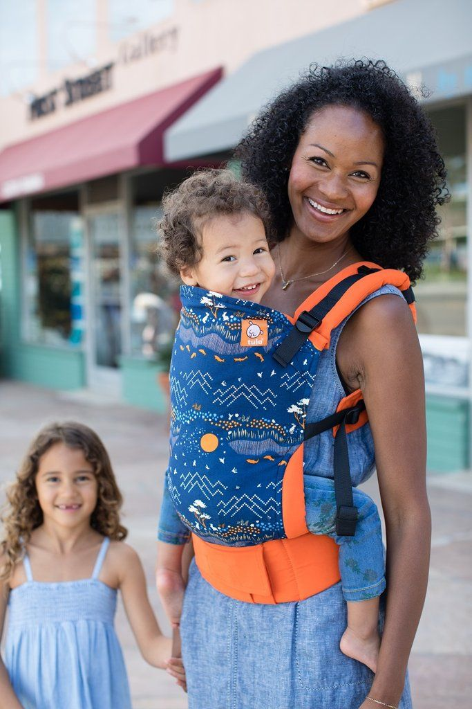 329be6aa01c Blue and orange mountain-skape baby carrier! Scenic Drive - Tula Baby  Carrier. It s wonderful to experience things through your child s eyes.