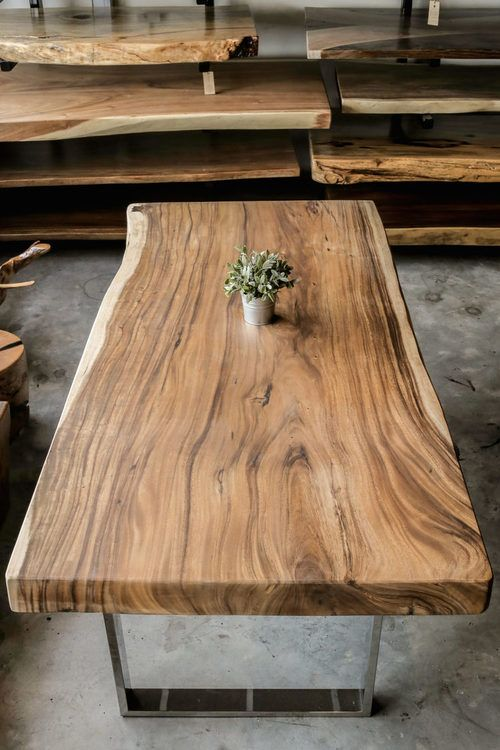 The Herman Signature Series Wood Slab Table Coffee Table Wood Coffee Table Design