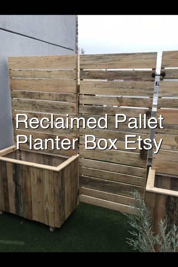 Reclaimed Pallet Wood Planter Box Etsy in 2020 | Wood ...