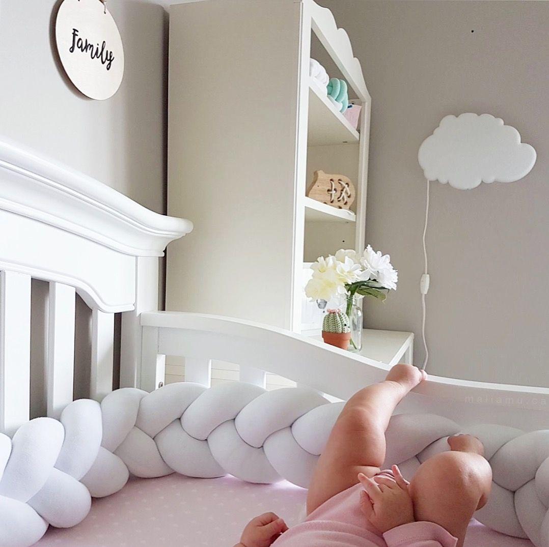 Canadian hand made braided crib bumper nursery ideas crib