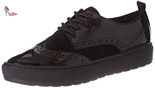 D Breeda A, Baskets Basses Femme, Schwarz (BLACKC9999), 38 EUGeox