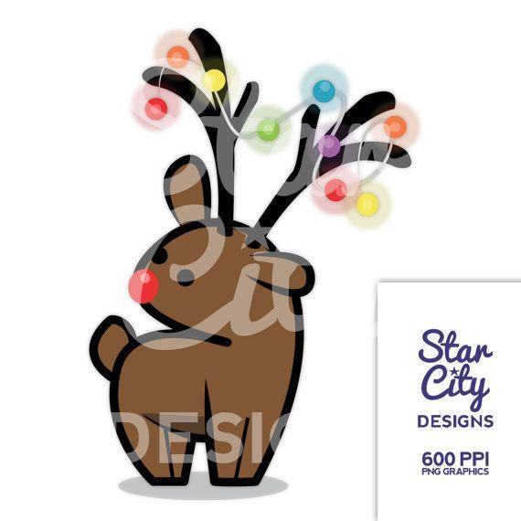 Reindeer Clipart Deer Christmas By StarCityDesigns
